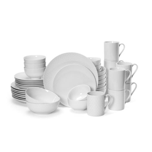 $261.59 Cheers White 40PC Dinnerware Set, Service for 8