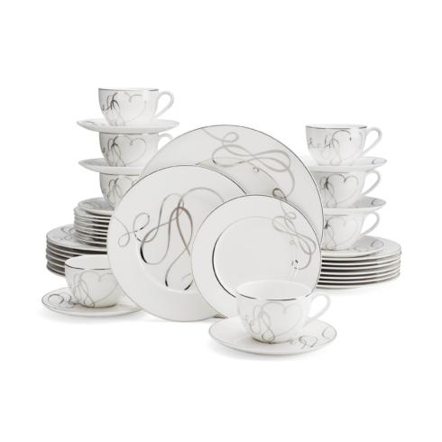 $299.99 Love Story 40PC Dinnerware Set, Service for 8