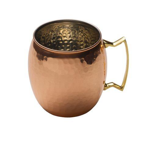Mikasa  Copper Barware  Moscow Mule Hammered Barrel Mug  $30.00