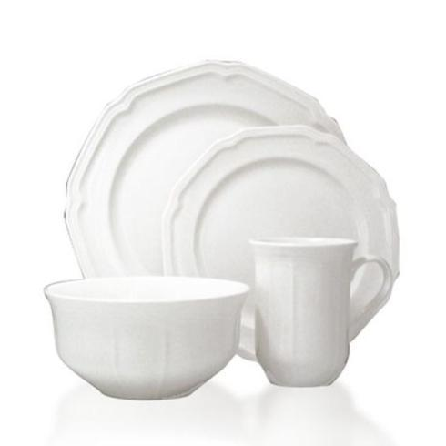 $99.99 Antique White 16PC Dinnerware Set, Service for 4