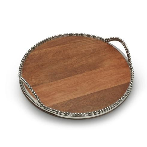 Mikasa  Loria Serving Collection  Round Serving Tray with handles $135.00