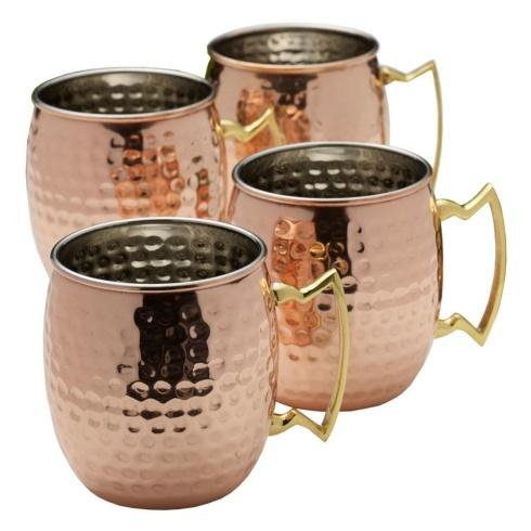 $44.99 Hammered Moscow Mule Mugs, Set of 4