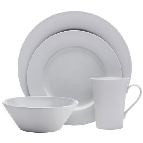 $39.99 Delray Matte Grey 4PC Place Setting, Service for 1