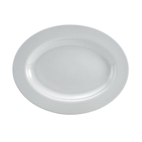 "$29.99 Delray Matte Grey 14"" Oval Platter"