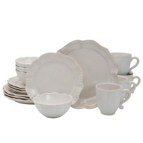 $249.99 Alyse 16PC Dinnerware Set, Service for 4 (Brown Box Remailer)