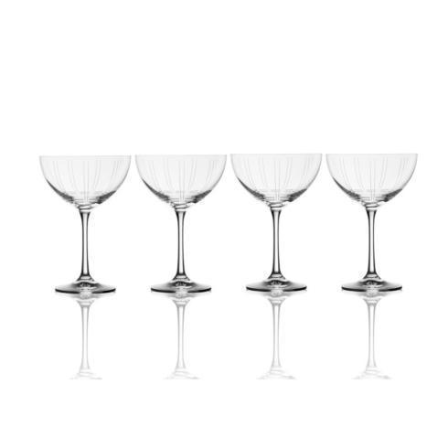 $49.99 Berlin 11.5oz. Saucer Champagne Glass, Set of 4 (Brown Box Remailer)