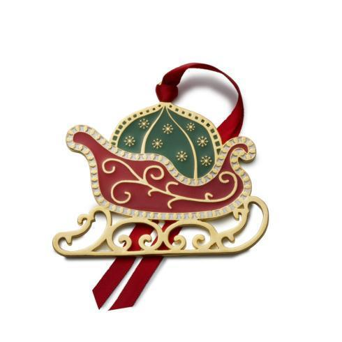 $31.99 Gold-plated Wonders of Christmas Sleigh, 12th Edition