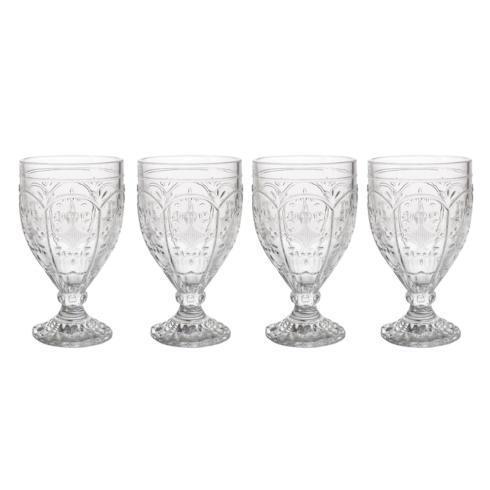 $29.99 12OZ Clear Goblet, Set of 4