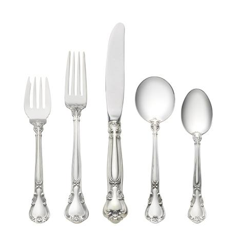 $6,250.00 46 Piece Set, Place Size with Cream Soup Spoon. Service for 8