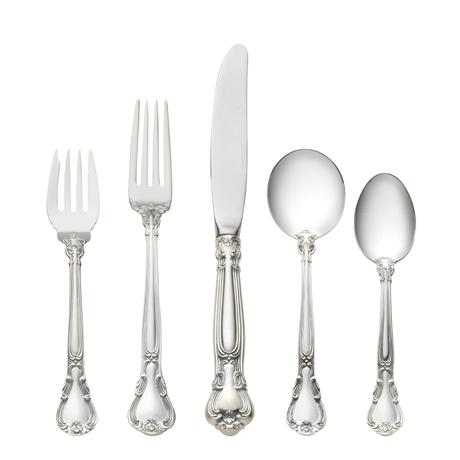 $550.00 5 Piece Place Setting with Cream Soup Spoon