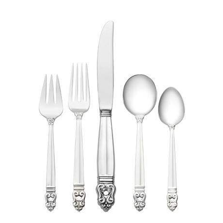 $950.00 5 Piece Place Setting with Cream Soup Spoon