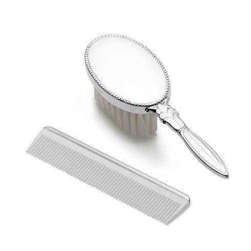 $170.00 Girls Oval Design Brush & Comb Set