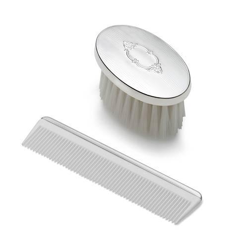 $160.00 Boys Shield Design Oval Brush & Comb Set