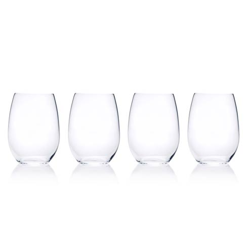 $40.00 18.25 Oz Stemless Wine, Set Of 4