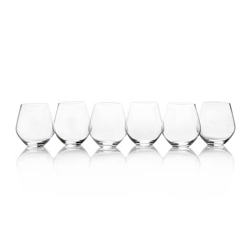 $60.00 19.75 Oz All Purpse Stemless, Set Of 6