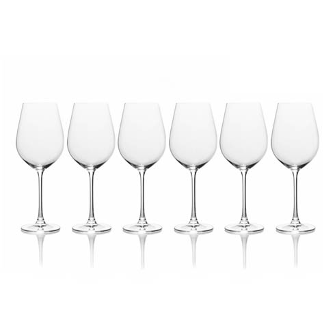 $39.99 21.75Oz Red Wine, Set Of 6