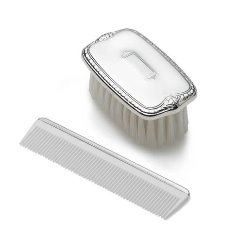 Empire Silver  Pewter Comb and Brush sets Boys Shield Design Brush & Comb Set $90.00