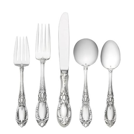 $600.00 5 Piece Place Setting with Cream Soup Spoon
