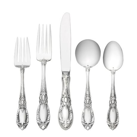 $5,800.00 46 Piece Set, Place Size with Cream Soup Spoon. Service for 8