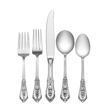 $590.00 5 Piece Dinner Setting with Cream Soup Spoon