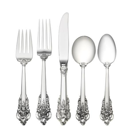 $8,900.00 46 Piece Set, Dinner Size with Cream Soup Spoon. Service for 8