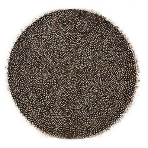 $22.50 Guinea Feather Placemat