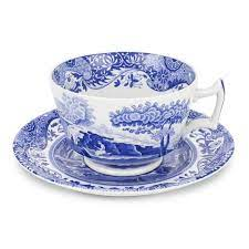 $36.00 Blue Italian Teacup and Saucer