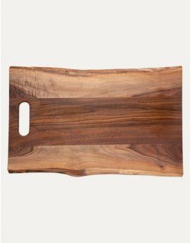 Maple Leaf at Home   24x14 Walnut Single Handled Board w/ Live Edge $125.00