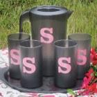 $26.00 Monogrammed Tumblers Set/4, Clear