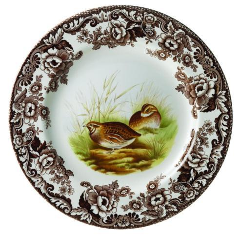 $46.25 Woodland Dinner Plate, Quail