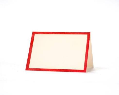 Hester and Cook   Red frame place cards set 12 $7.00