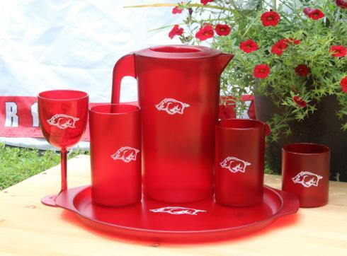 $26.00 UNIVERSITY OF ARKANSAS RED TUMBLER SET/4, 20oz