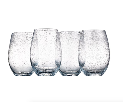$10.00 Iris Stemless Glass- Clear