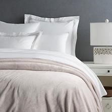 Queen Selke Fleece Blanket, Pearl Grey