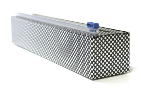 $15.00 Silver Dot Plastic Wrap Dispenser