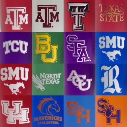 $29.00 Collegiate Texas College 20oz Tumblers set/4