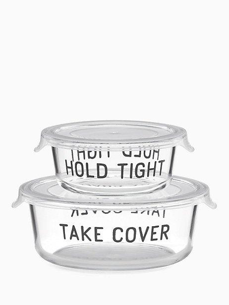 Kate Spade  All in Good Taste 4-Piece Round Food Storage Set $25.00