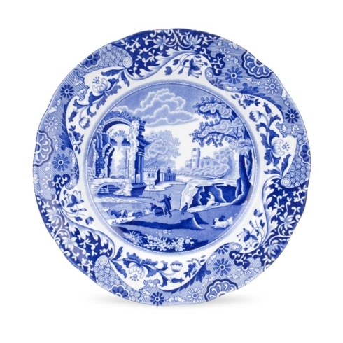 $30.00 BLUE ITALIAN LUNCHEON PLATE 9""
