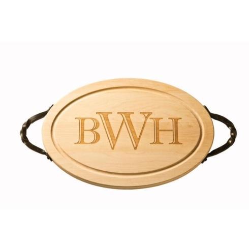 """$165.00 18"""" Oval Cutting Board w/Handles"""
