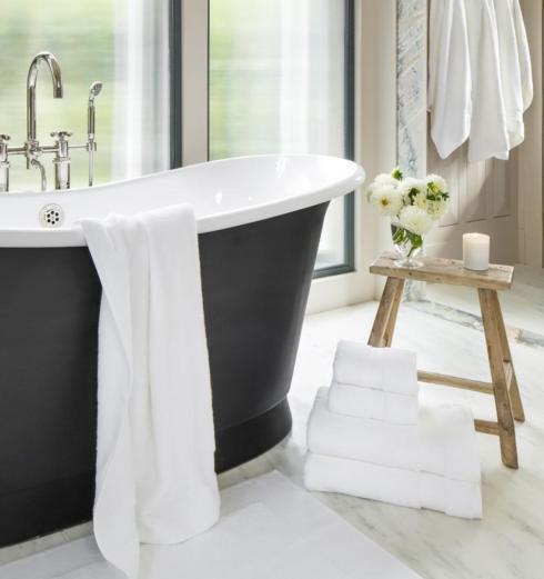 $16.00 Bello Washcloth, White