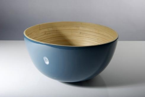 bibol   Large Bamboo Salad Bowl, Blue $75.00