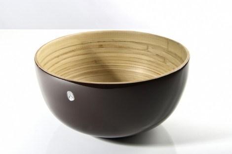 bibol   Large Bamboo Salad Bowl, Grey $75.00