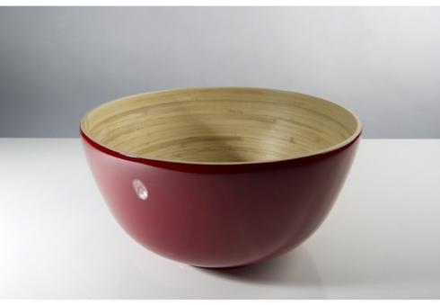 bibol   Large Bamboo Salad Bowl, Red $75.00