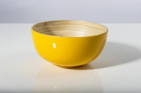 bibol   Small Bamboo Bowl, Yellow $25.00