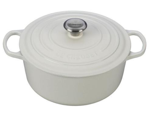 Le Creuset   Round Dutch Oven 5 1/2qt, White $370.00