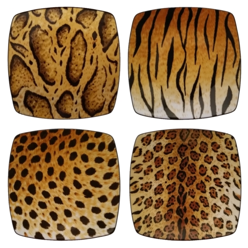 $95.00 Four Furs Canapé Plates
