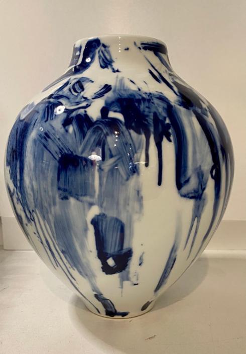 Two\'s Company   BLUE & WHITE PORCELAIN VASE $115.00