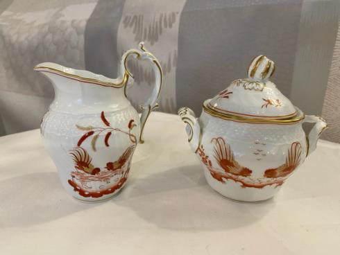 $200.00 GINORI GALLI ROSSI COFFEE COVERED SUGAR BOWL