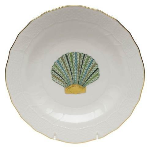 Simple Elegance Exclusives   SCALLOP SHELL DESSERT PLATE $145.00