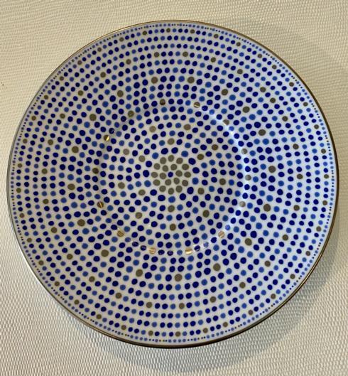 J. Seignolles Porcelaine  Villa Toscana Indigo BREAD/BUTTER $90.00